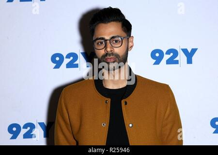 New York, NY, USA. 16th Nov, 2018. Hasan Minhaj at arrivals for Hasan Minhaj in Conversation with The New Yorker's Vinson Cunningham, 92nd Street Y, New York, NY November 16, 2018. Credit: Steve Mack/Everett Collection/Alamy Live News - Stock Photo
