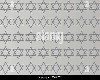 Star of David on a gray background - Stock Photo