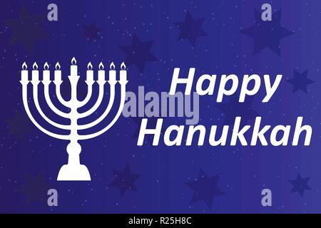 Hanukkah Typographic Vector Design - Happy Hanukkah. A - Stock Photo