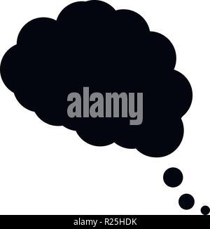 dream cloud icon in trendy flat design - Stock Photo