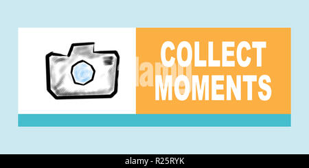 Collect moments concept - Stock Photo