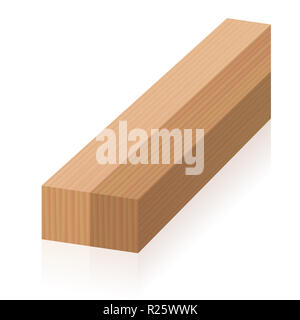 Impossible figure. Optical illusion with two wooden blocks. At the front they lie side by side, but at the back above each other. - Stock Photo