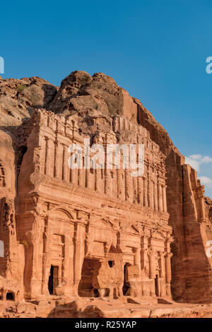Royal Tombs, Nabataean City Petra, near Wadi Musa, Jordan - Stock Photo