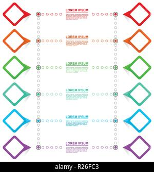 Infographic business presentation vector pointer template with 12 options - Stock Photo