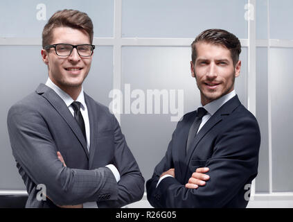 two businessmen posing - Stock Photo