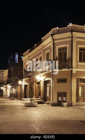 David Agmashenebeli Avenue in Tbilisi. Georgia - Stock Photo