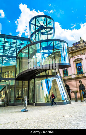 Berlin, May 25, 2015: German Historical Museum - Museum of the History of Germany, located in Berlin armory building on Unter den Linden. - Stock Photo