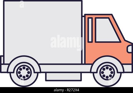 cargo transport truck isolated icon - Stock Photo