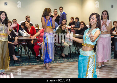 Miami Florida Our Lady of Lebanon Maronite Catholic Church Lebanese Festival fundraiser performance heritage tradition folklore - Stock Photo