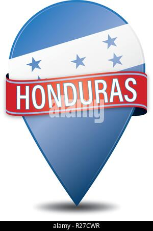glossy navigation pin with white background - Stock Photo