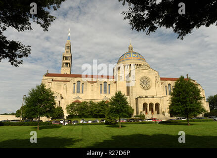 Basilica of the National Shrine of the Immaculate Conception in Washington, DC - Stock Photo