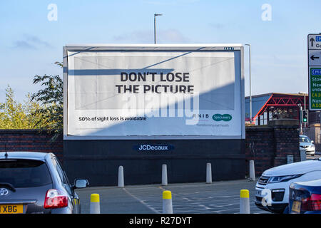 Don't lose the picture Specsavers commercial on billboard UK - Stock Photo