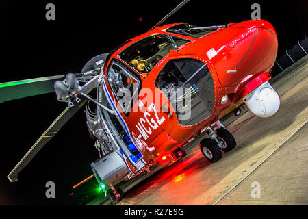 HM Coastguard S92 helicopter Search & Rescue - Stock Photo