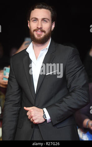 62nd London Film Festival - The Outllaw King - Premiere  Featuring: Aaron Taylor- Johnson Where: London, United Kingdom When: 17 Oct 2018 Credit: WENN.com - Stock Photo