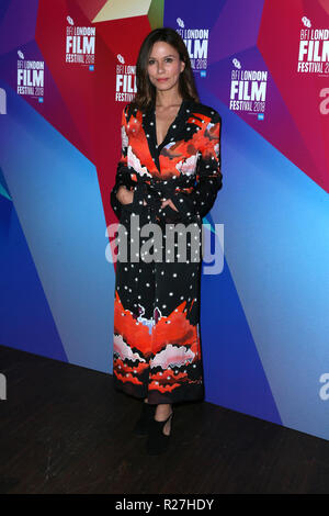 The BFI 62nd London Film Festival World Premiere of 'The Fight' held at the Picturehouse Central - Arrivals  Featuring: Rhona Mitra Where: London, United Kingdom When: 17 Oct 2018 Credit: Mario Mitsis/WENN.com - Stock Photo