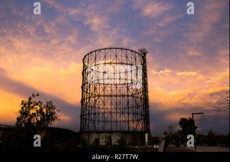Gazometro View - An urban sunset - Stock Photo
