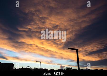 Roman afterglow View - Ultimi raggi di sole romani - Stock Photo