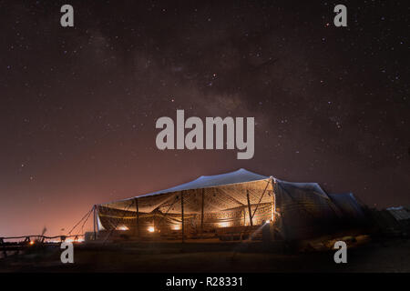 Special shot for the Milkyway over Siwa region in west Egypt - Stock Photo