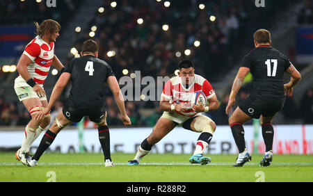 London, UK, 17th November 2018.  Jiwon Koo of Japan during Quilter International between England  and Japan at Twickenham stadium , London, England on 10 Nov 2018.  Credit Action Foto Sport - Stock Photo