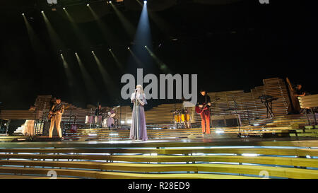 Glasgow, Scotland, UK. 17th November, 2018. Florence and The Machine, in concert at The SSE Hydro, Credit: Stuart Westwood/Alamy Live News - Stock Photo