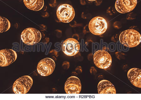 trendy bright lights in a bar or cafe - Stock Photo