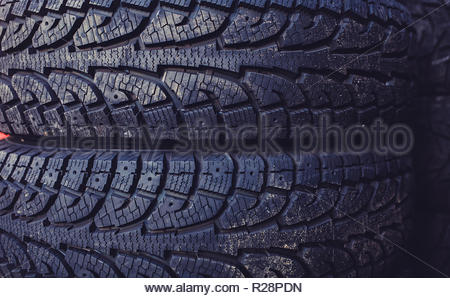 Car tires for the road - Stock Photo