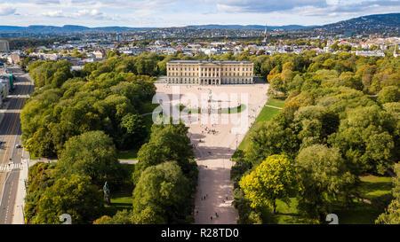 The Royal Palace Det Kongelige Slott, Oslo, Norway - Stock Photo