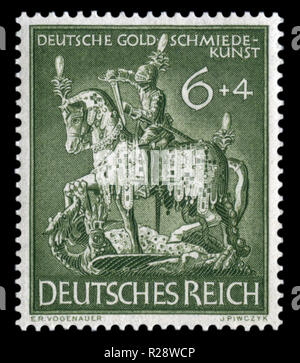 German Historical Stamp Jewelry Figure Of St George The Victorious Dragon 11th