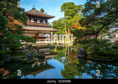 Temple of the Silver Pavilion in Kyoto, Japan - Stock Photo