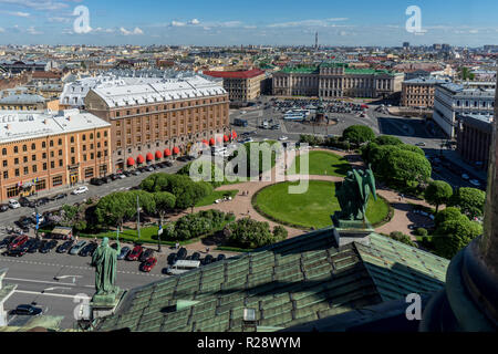 Saint Petersburg, Russia. The view from Saint Isaac's cathedral balcony. - Stock Photo
