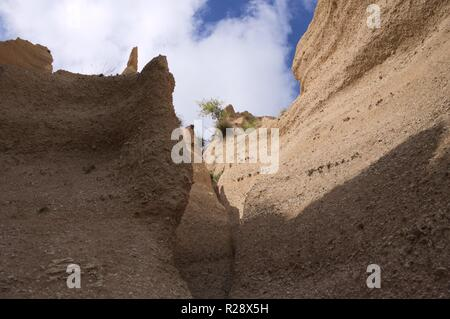 Geological formation in the center of Italy - Lame Rosse canyon (Marche, Italy, Europe) - Stock Photo