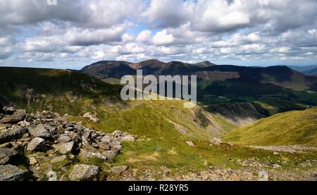 Drak clouds moving over the northern fells - Stock Photo