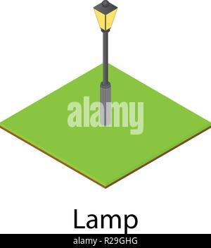 Lantern icon. Isometric illustration of lantern vector icon for web - Stock Photo