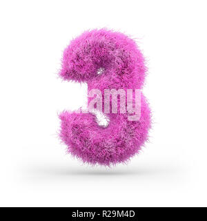 Uppercase fluffy and furry font made of fur texture for poster printing, branding, advertising. 3D rendering - Stock Photo