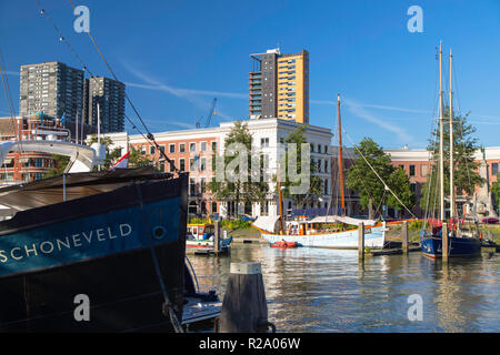 Veerhaven Marina, Rotterdam, Zuid Holland, Netherlands - Stock Photo