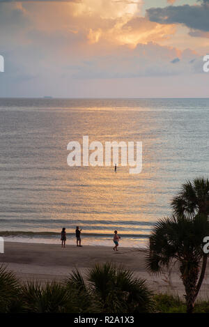Redington,  Florida, USA., Saturday,  06.10.18,  Sunset, Redington Beach,  © Peter Spurrier - Stock Photo