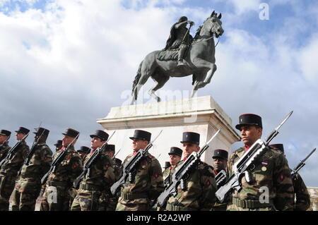 1918 Armistice celebration, Lyon, France - Stock Photo