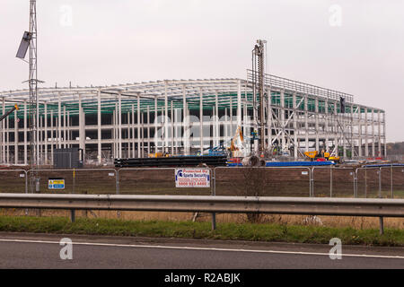 Work progressing on Amazons new Darlington site at Symmetry Park,Darlington, England,UK - Stock Photo