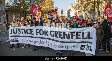London, UK. 17th Nov, 2018. Thousands marched through central London in a demonstration against racism and fascism organised by Stand up to Racism and Unite against Fascism, Credit: David Rowe/Alamy Live News - Stock Photo