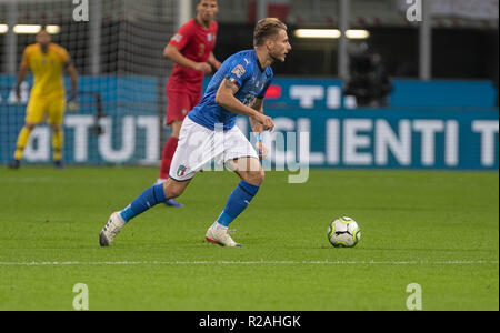 Milan, Italy. 17th Nov, 2018. Milan, Italy. 17th Nov, 2018. Ciro Immobile (Italy) during the UEFA Nations League 2018, League A, Group 3 football match between Italy and Portugal on November 17, 2018 at Giuseppe Meazza stadium in Milan, Italy - Photo Laurent Lairys/DPPI Credit: Laurent Lairys/Agence Locevaphotos/Alamy Live News Credit: Laurent Lairys/Agence Locevaphotos/Alamy Live News - Stock Photo