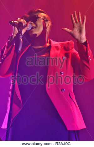 Gabrielle supports Rick Astley  on his tour at the Liverpool Arena on Saturday 17 November 2018 - Stock Photo