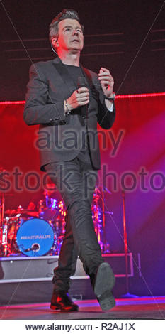 Rick Astley  brings his tour to the Liverpool Arena on Saturday 17 November 2018 Credit: cheshire snapper/Alamy Live News - Stock Photo