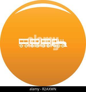 compartment train icon. Simple illustration of compartment train vector icon for any design orange - Stock Photo