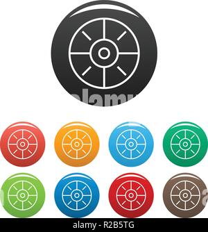 Sport target icon. Simple illustration of sport target vector icons set color isolated on white - Stock Photo
