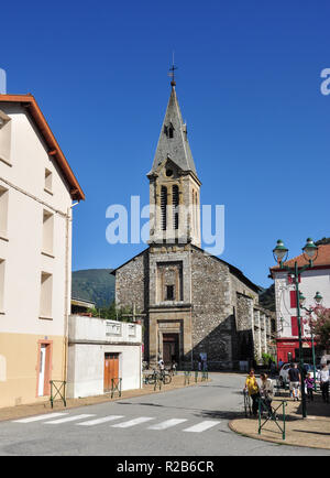 Church of Notre Dame de la Daurade, Rue Sainte-Quittorie, Tarascon-sur-Ariege, Ariege, Occitanie, France - Stock Photo