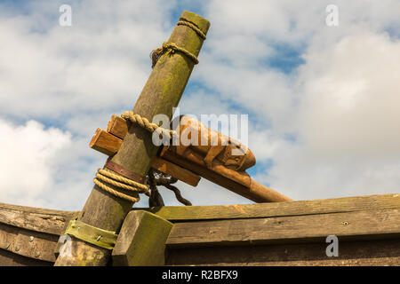 Gokstad Viking longship, replica, Haroldswick, Shetalnd - Stock Photo