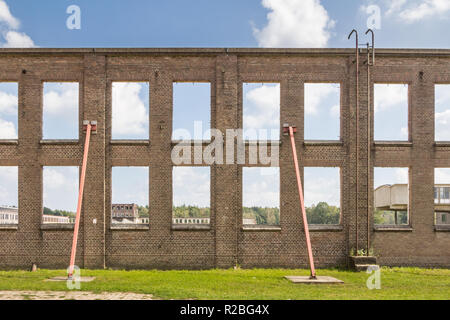 Old industrial buidiling in Ede in the Netherlands - Stock Photo