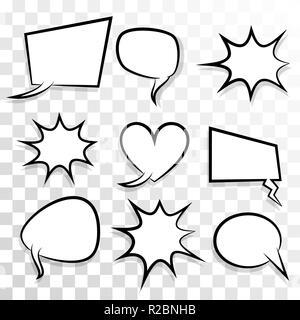 Empty set speech bubble comic text pop art - Stock Photo