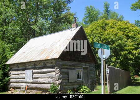 Log Cabin Grand Isle Vermont United States Stock Photo