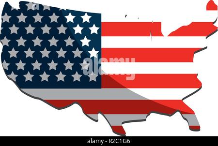 United states map and flag design
